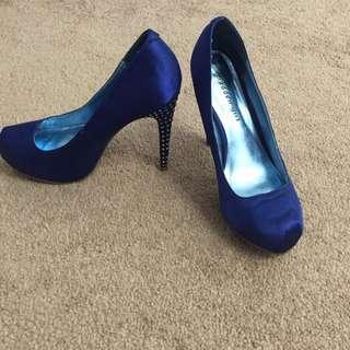 Blue Madden Girl High Heels