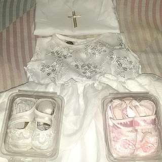 Baptismal dress with shoes