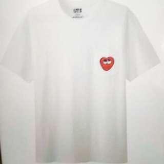Kaws白色愛心T恤