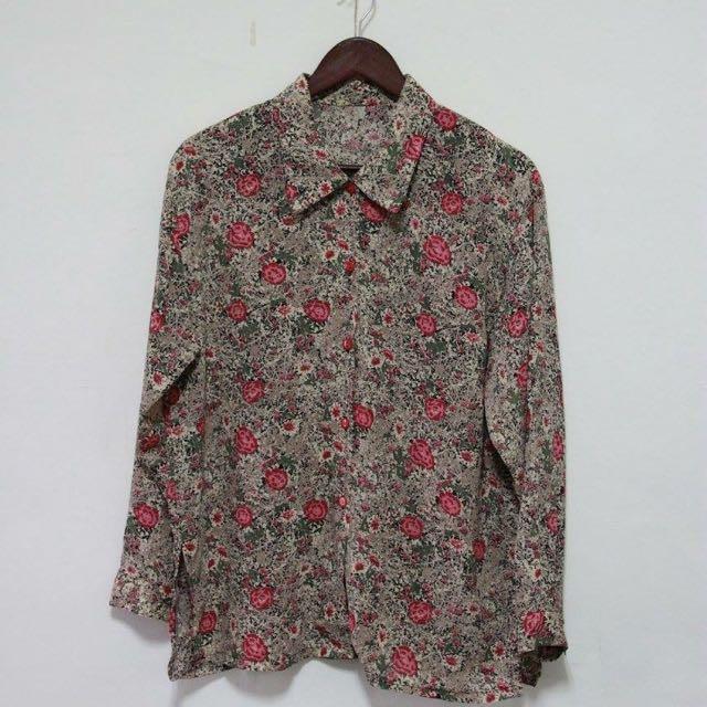 復古玫瑰花襯衫