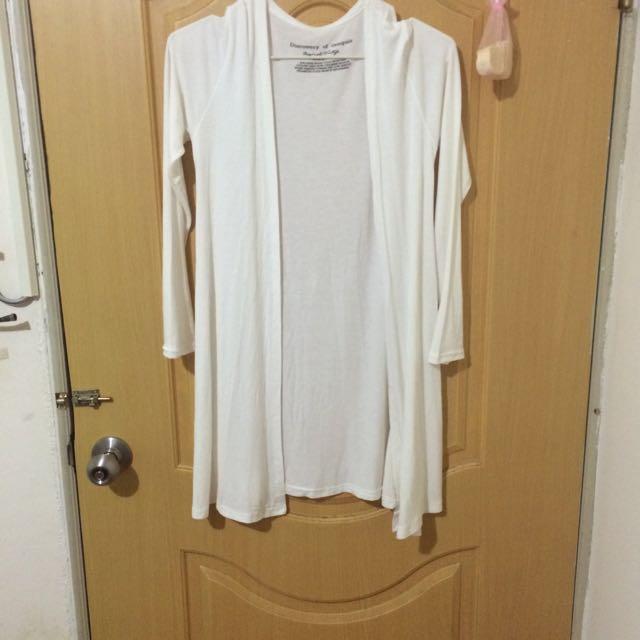純白輕薄罩衫