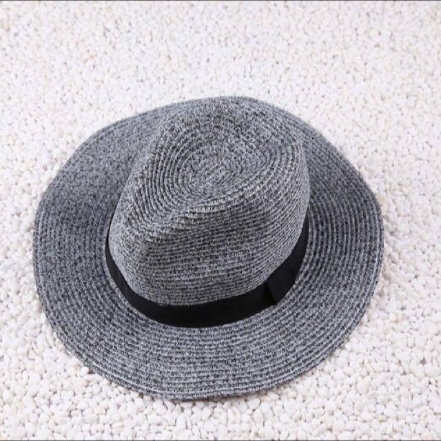 混色編織造型紳士帽