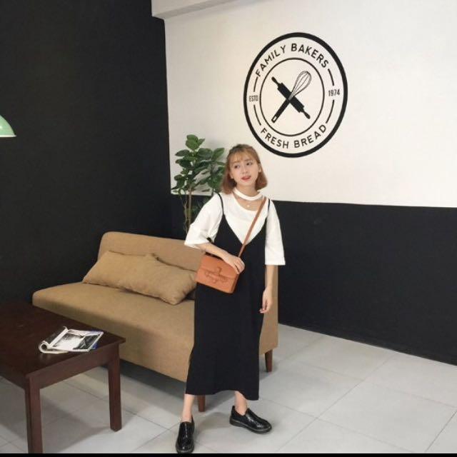 韓款長版連身裙