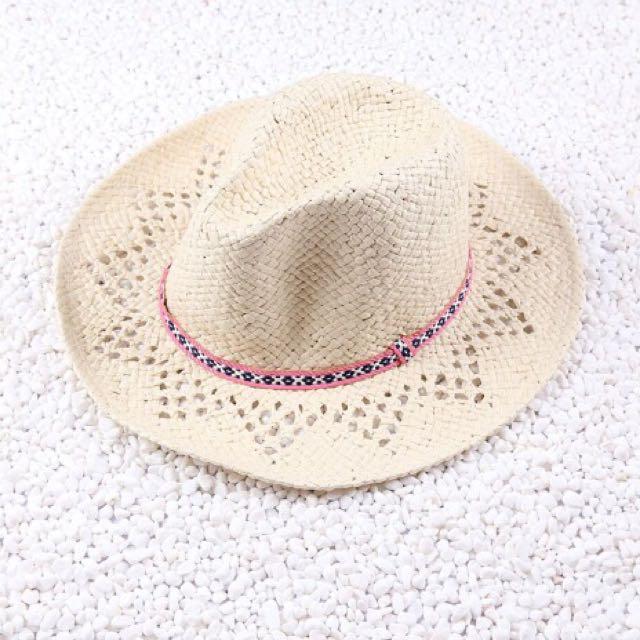 編織造型紳士帽 草帽