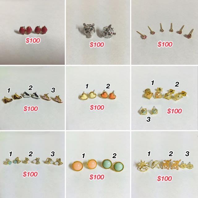 均一價100元/百元出清專區 - 各式造型耳環