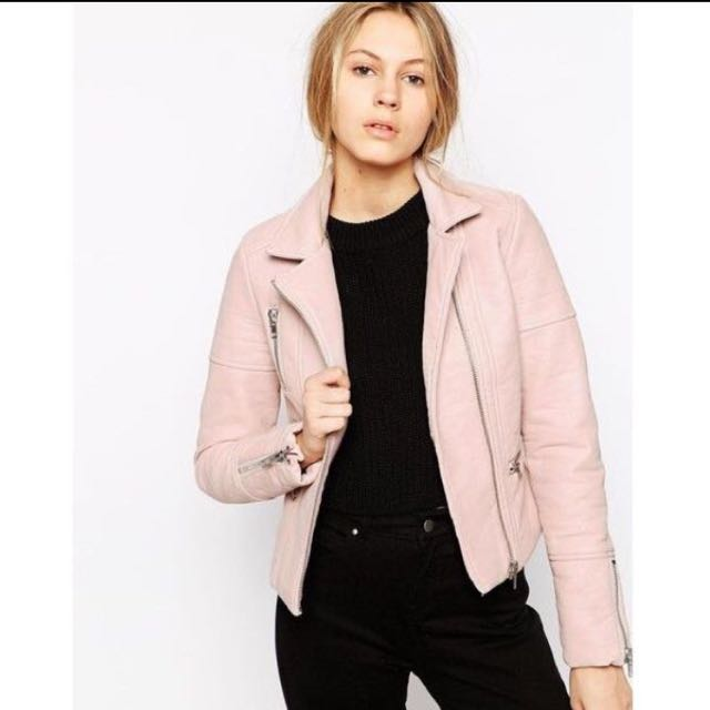 Barney's Pink Biker Jacket