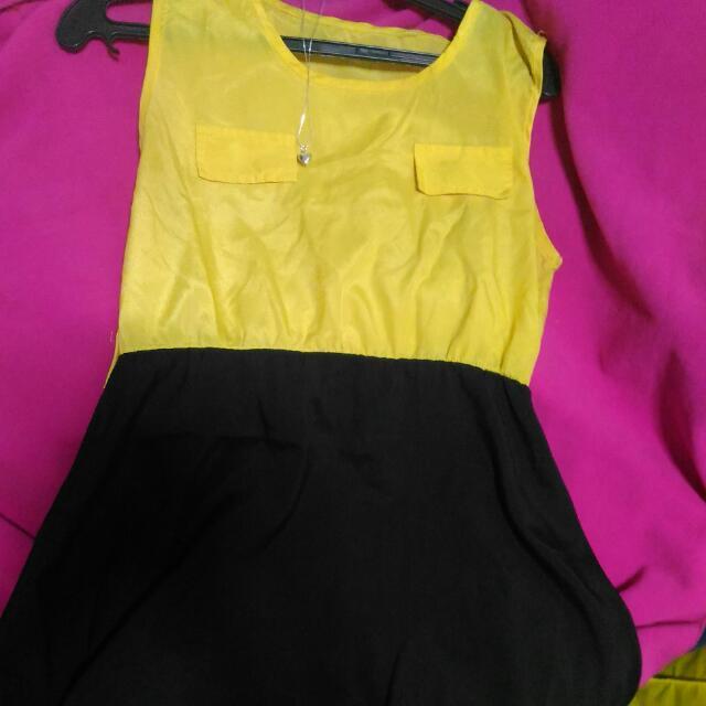 Black And Yellow Dress!