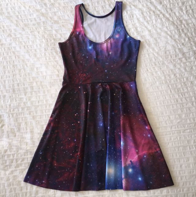 Blackmilk Galaxy Purple Reversible Skater Dress
