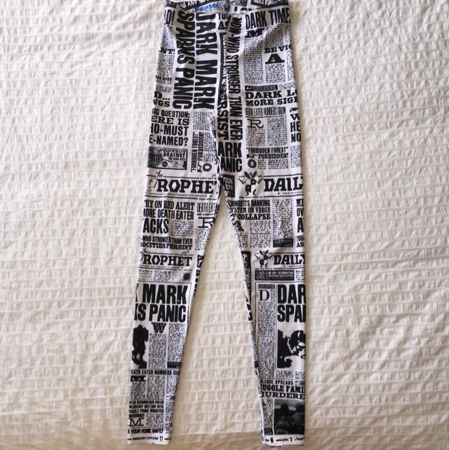 Blackmilk Harry Potter Daily Prophet HWMF Leggings