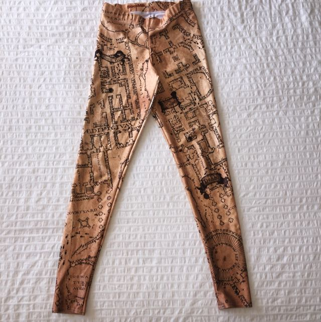Blackmilk Harry Potter Marauders Map Leggings