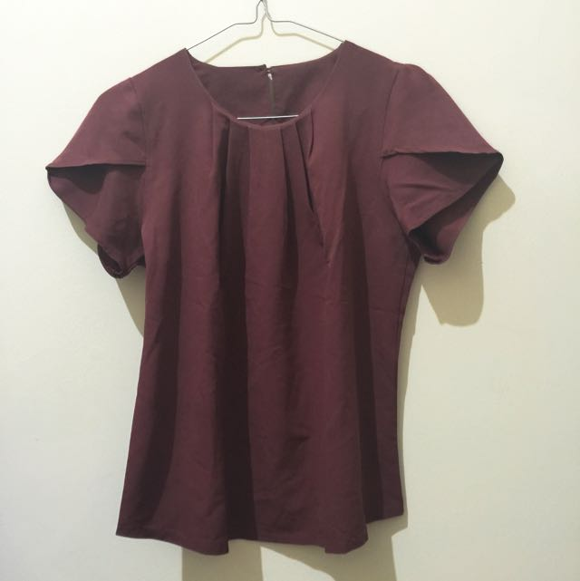 Blouse Red Brown