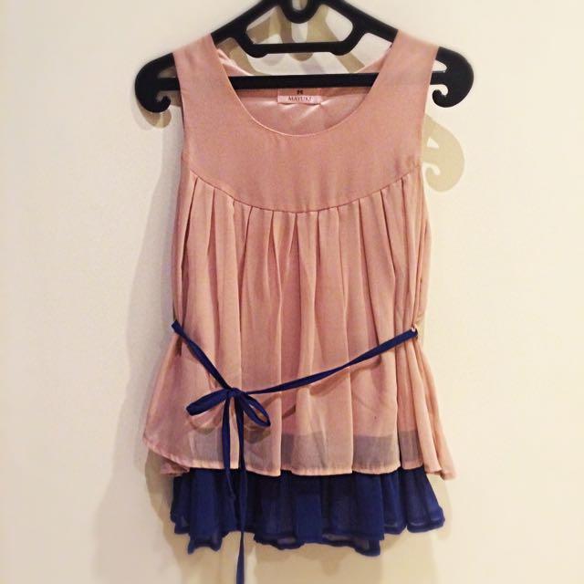 Blue Pink Top Dress