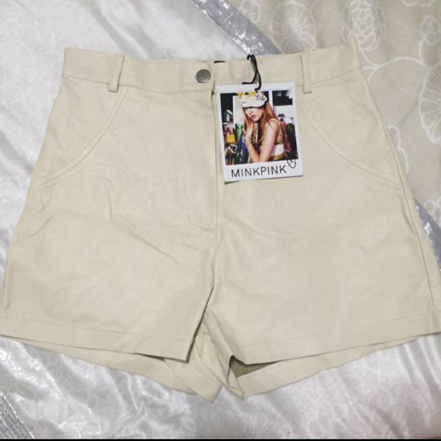 BNWT MinkPink Faux Leather Shorts
