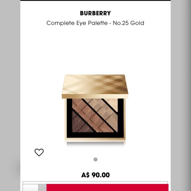 Brand New Burberry Complete Eye Palette