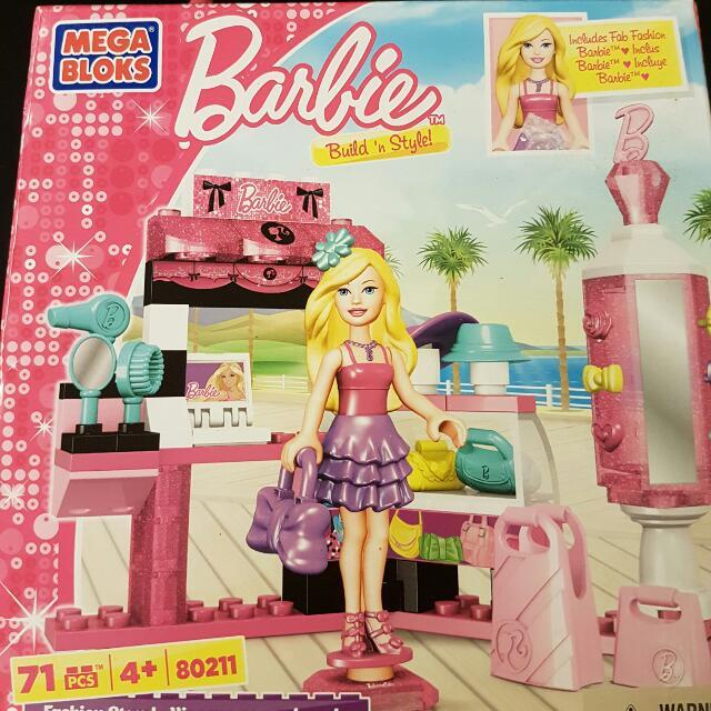 Build And Style Barbie Mega Bloks