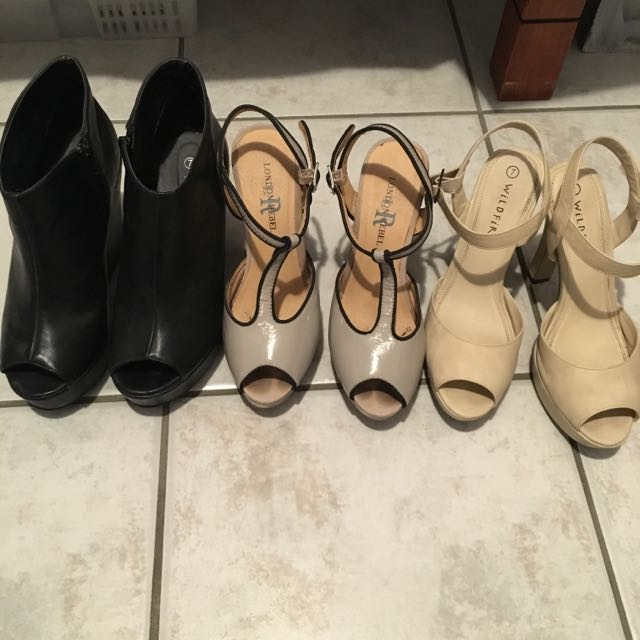 3x Size 7 Heels. Free Shipping