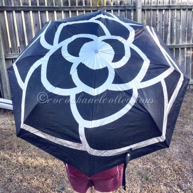 Chanel Camellia Pattern Umbrella