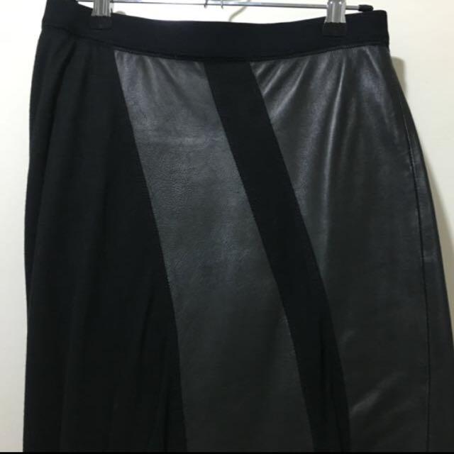 Claude Maus Leather Skirt XXS