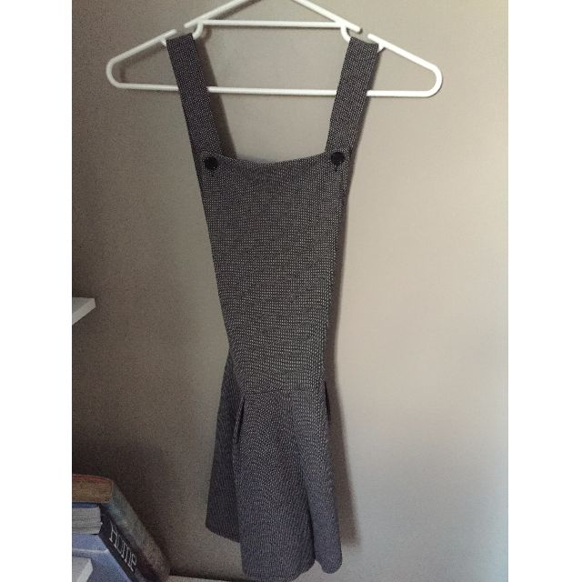 GREY CORPORATE PLAYSUIT W/ CROSS OVER BACK