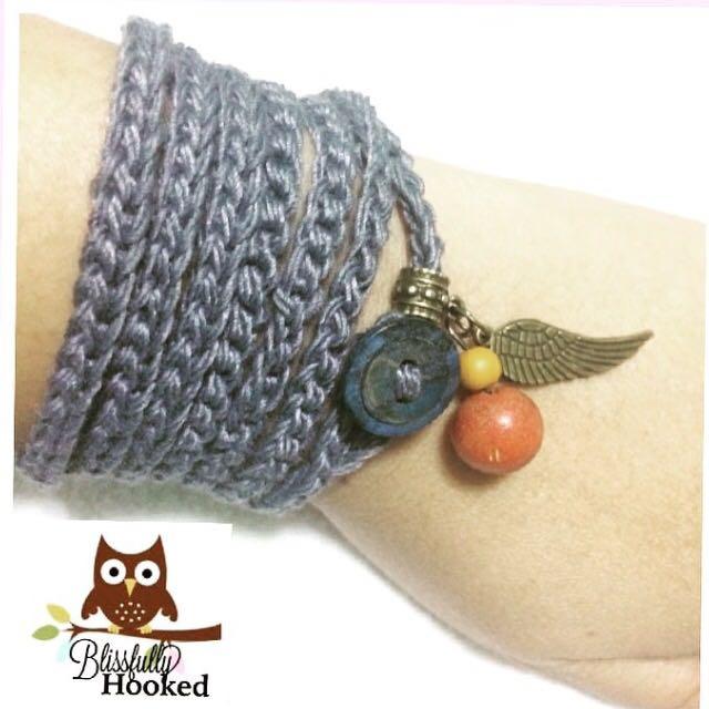 Crochet Wrap Around Bracelet