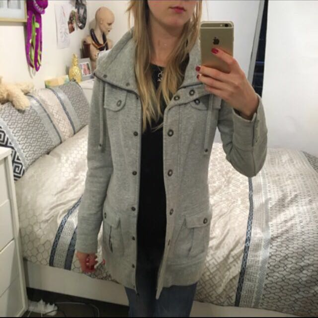 ESPRIT Long Jacket (100% Cotton) Size 6-8