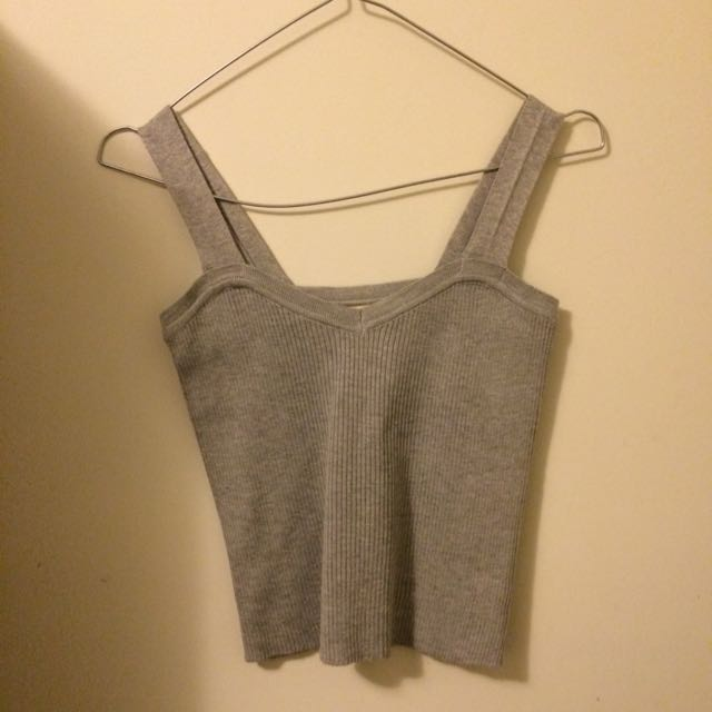 Grey Cropped Singlet