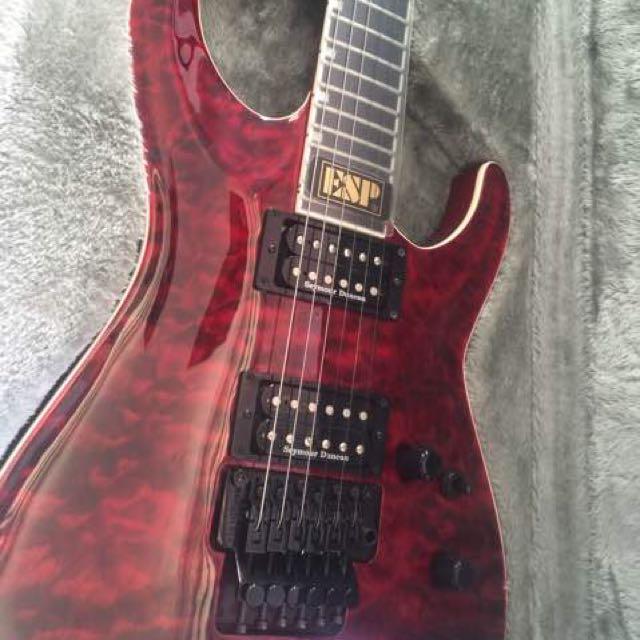guitar ESP red E2 Horaijon made in Japan