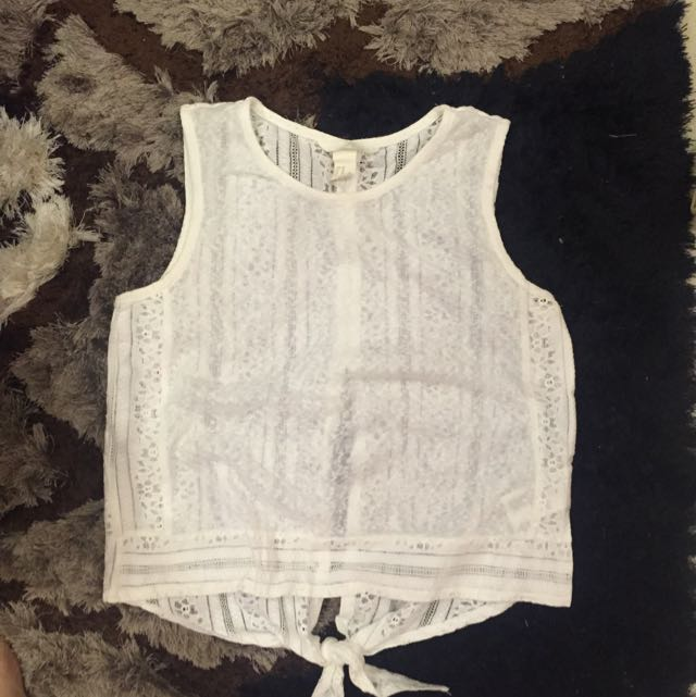 H&M White Sexy Back