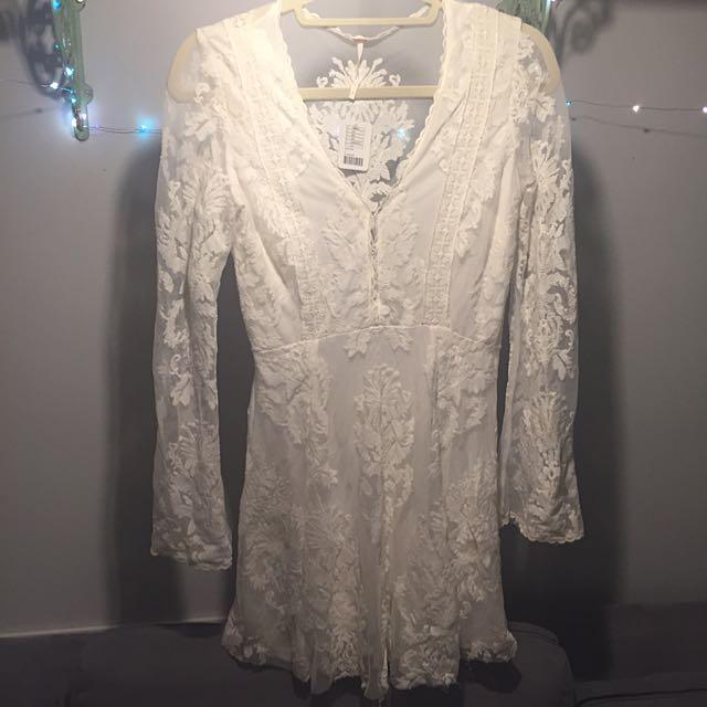 Lace Mini Dress By Free People