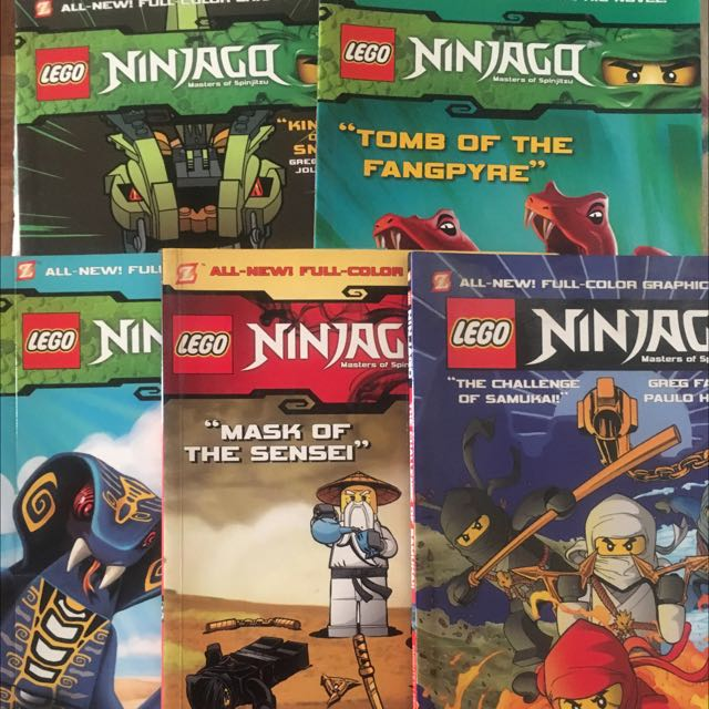 Lego Ninjago Masters of Spinjitzu Lot of 5 Books