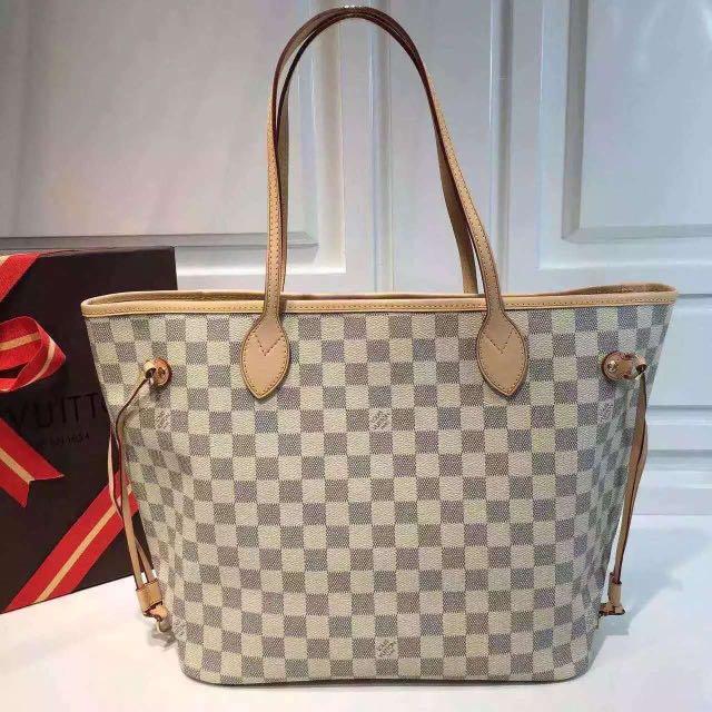 lv neverfull shopping bag