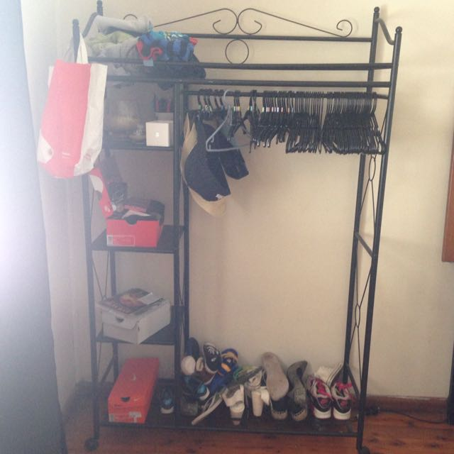 Matching Shoe And Clothes Rack
