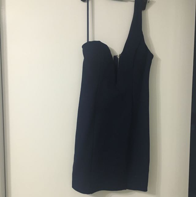 Navy One Shoulder Dress Angel Biba