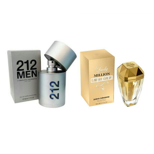 Authentic Paco Rabanne ( Lady Million) & 212 men NYC