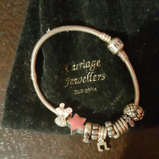 Pandora Brackett with charms