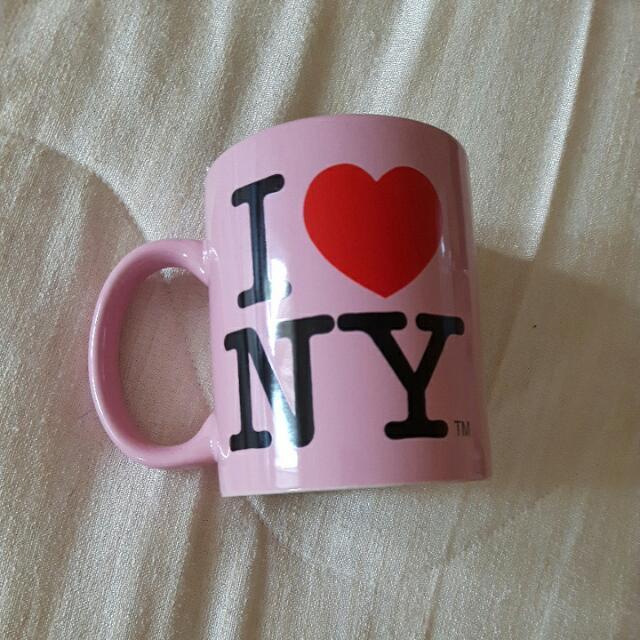 Pink I <3 NY Mug