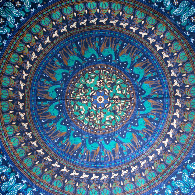 PO  Gypsy De La Luna Camel Mandala Tapestry (Pink Mint) 76ae8ff5a3