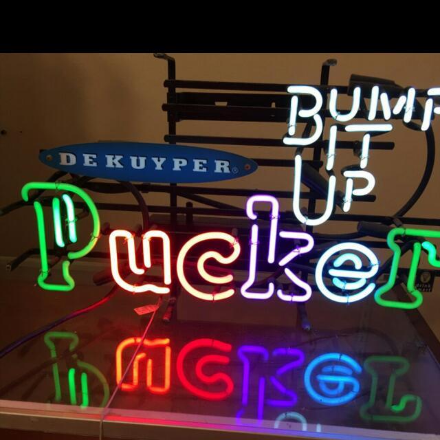 Pucker Neon Sign