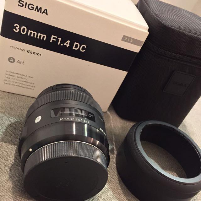 Sigma 30mm F1.4 DC HSM Art 二代大光圈定焦鏡公司貨