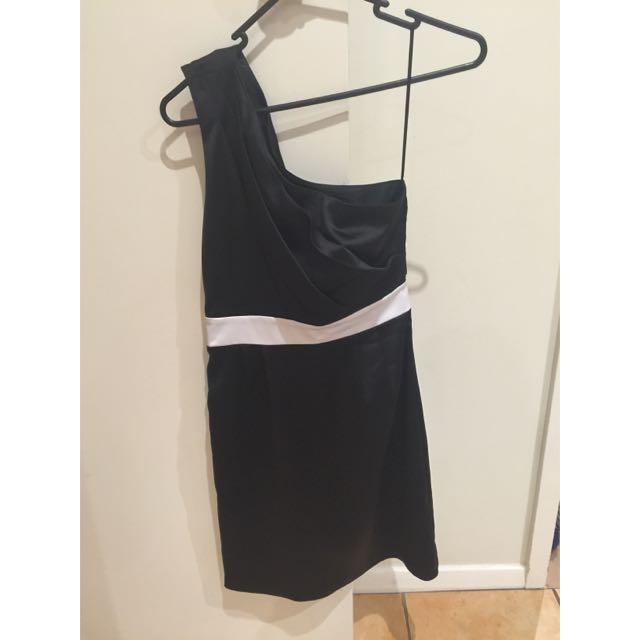Silk One Shoulder Dress
