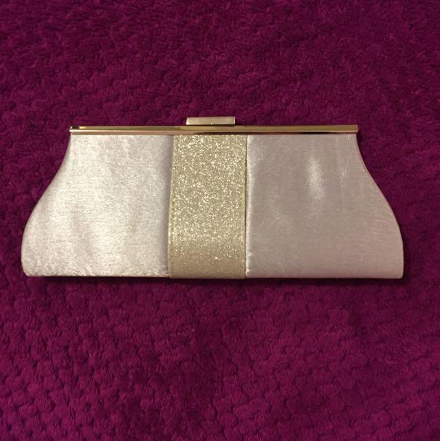 Silver Formal Clutch