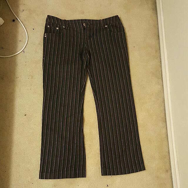 Size 12 Pinstripe Jeans
