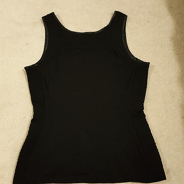 Size 14 Black Dress Top