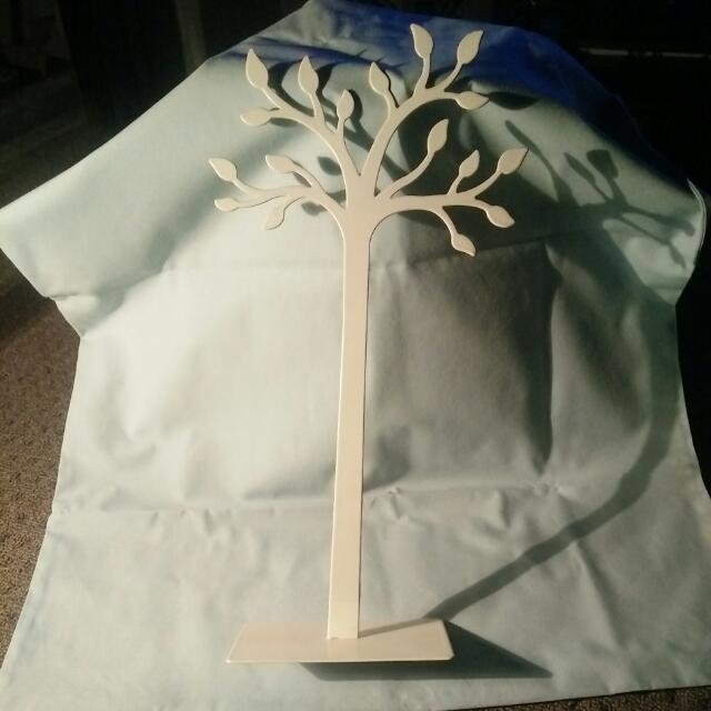 Small Jewellery Tree White