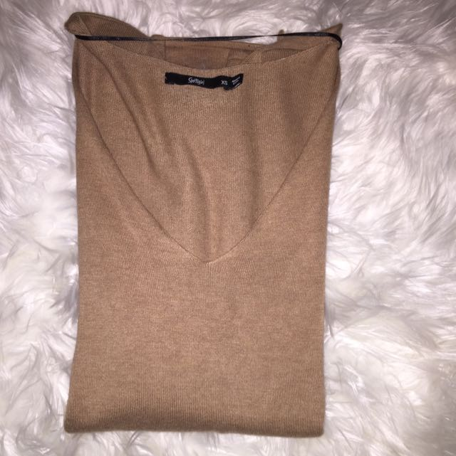 Sportsgirl Long Sleeve Camel Knit