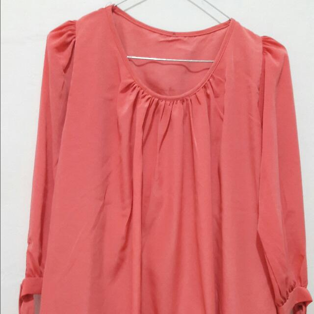 Top (Bangkok) Warna Peach