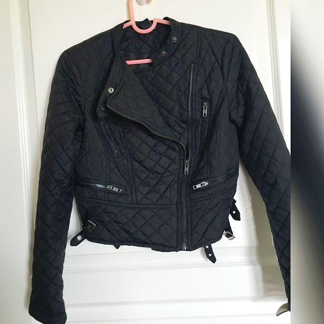 Used Forever 21 Black Motorcycle Jacket Size 2