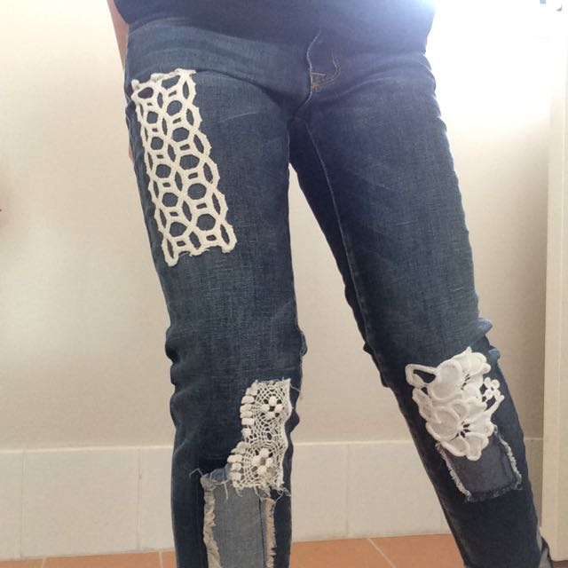 Vintage Jeans With Beautiful Details