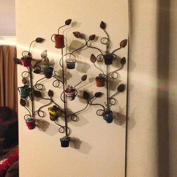 Wall Hanging Mini Pot Plant Holder