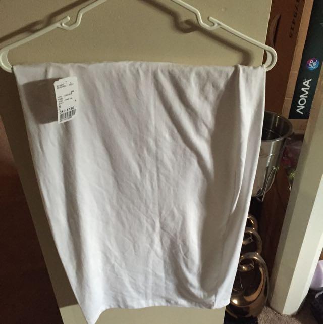 White Midi Skirt Sz L